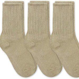 Boys School Uniform Ribbed Crew Dress Socks 3 Pack